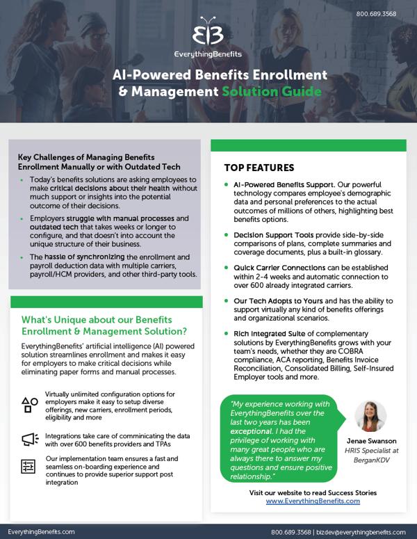 Benefits Enrollment cutsheet thumbnail