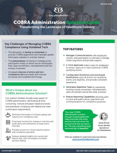 COBRA Administration cutsheet thumbnail
