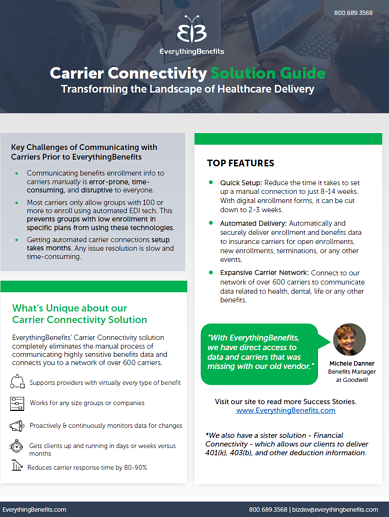 Carrier Connectivity cutsheet thumbnail