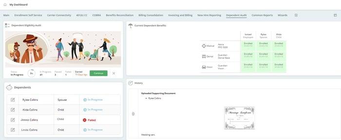 dependent eligibility audit portal