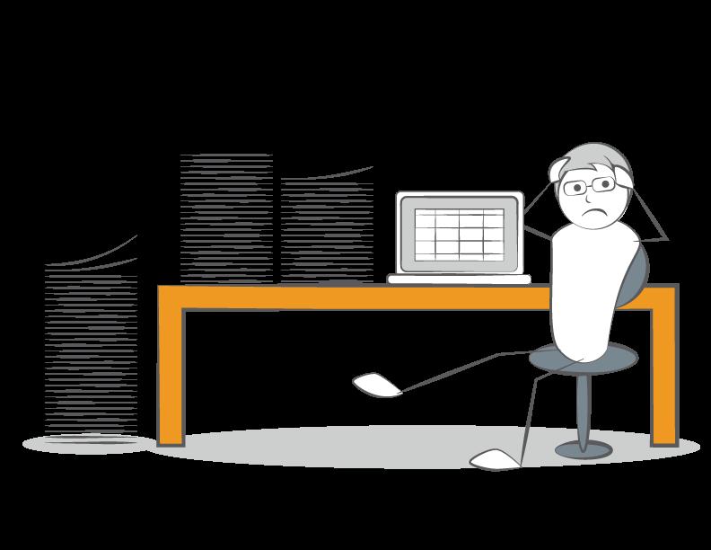 Stressed HR Admin