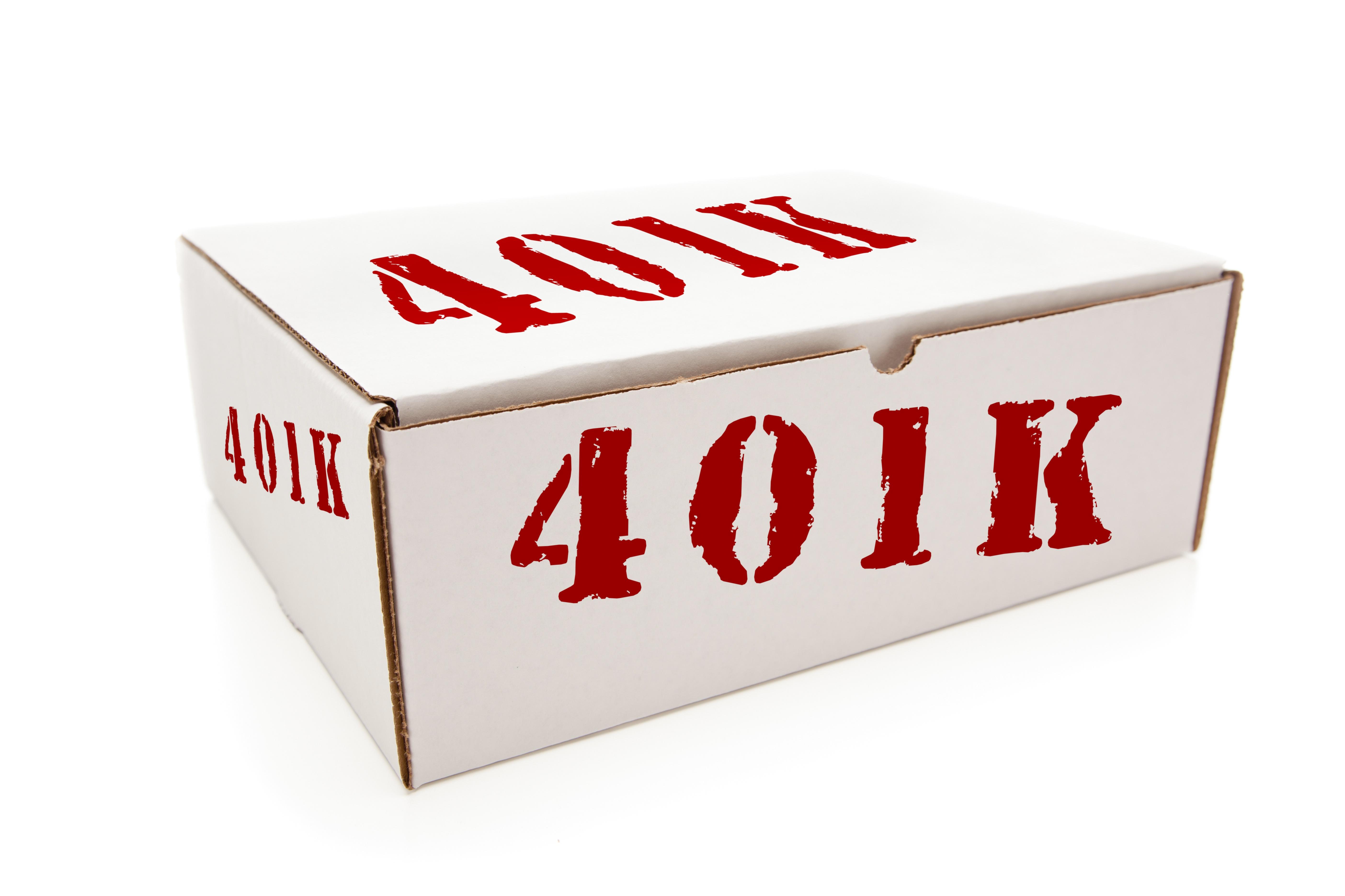 White box stamped 401(k)