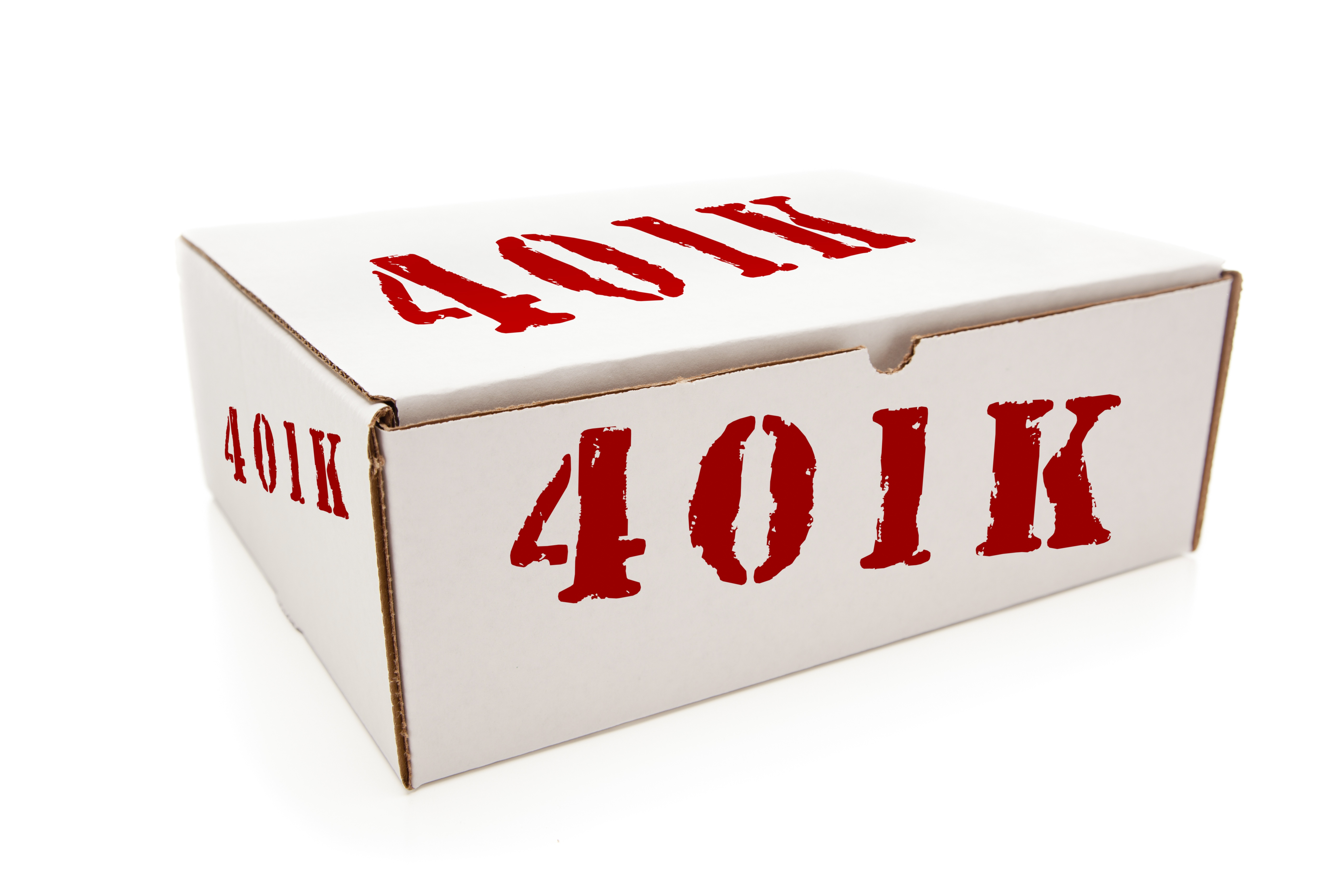 White box stamped 401(k)