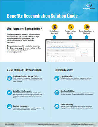Benefits Reconciliation Solution Guide