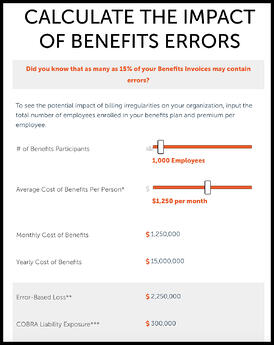 calculator for benefits billing errors