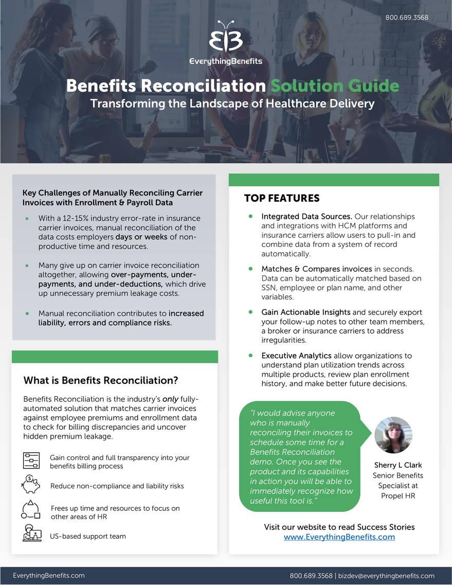 Benetfits Reconciliation cutsheet